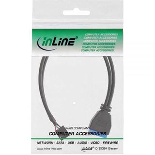 (€26,33*/1m) 0.30m InLine USB3.0 Adapterkabel USB 2.0