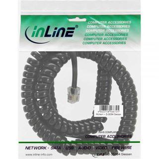 (€0,98*/1m) 4.00m InLine Telefon Anschlusskabel Spiralkabel RJ10