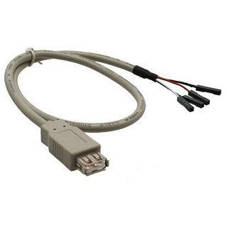 (€3,27*/1m) 1.50m InLine USB2.0 Anschlusskabel 4pol Buchse auf