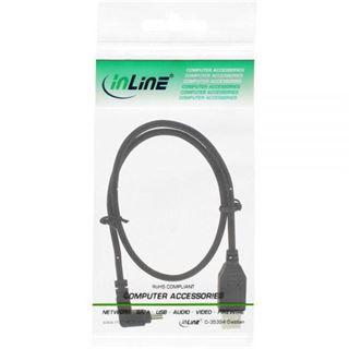 (€7,80*/1m) 0.50m InLine USB2.0 Anschlusskabel gewinkelt oben