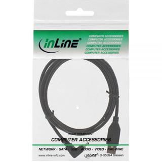 (€2,45*/1m) 2.00m InLine USB2.0 Anschlusskabel gewinkelt oben