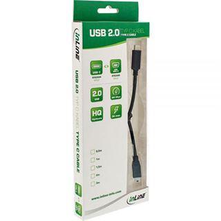 (€6,90*/1m) 1.00m InLine USB2.0 Anschlusskabel USB C Stecker auf