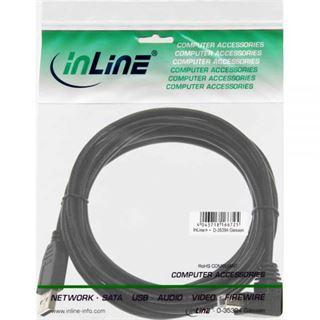 (€1,95*/1m) 2.00m InLine USB2.0 Anschlusskabel gewinkelt unten
