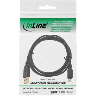 3.00m InLine USB2.0 Anschlusskabel USB A Stecker auf USB miniB