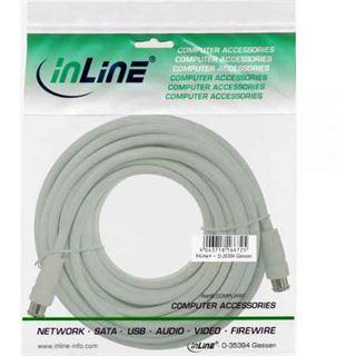 (€0,40*/1m) 20.00m InLine SAT Anschlusskabel F Quick Stecker auf