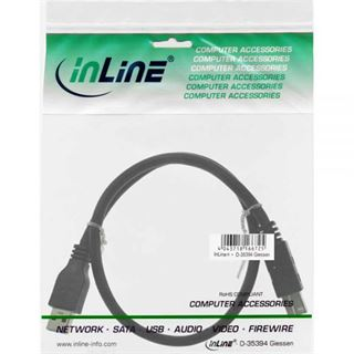 (€2,30*/1m) 3.00m InLine USB3.0 Anschlusskabel USB 3.0 USB A