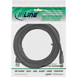 5.00m InLine USB3.0 Anschlusskabel USB 3.0 USB A Stecker auf USB A