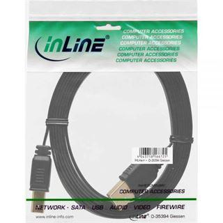3.00m InLine USB2.0 Anschlusskabel USB A Stecker auf USB B Stecker