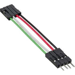 0.50m InLine USB2.0 Verlängerungskabel USB Pfostenstecker 4pol