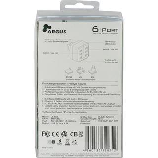 Inter-Tech Ladegerät Argus LS-6US 80mm USB 5V Steckdose