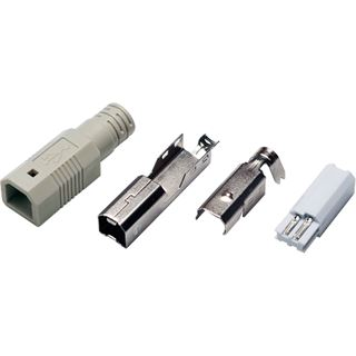 Logilink USB-Stecker Typ-B Lötversion, Set aus 4 Teilen