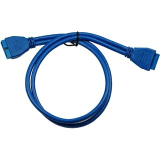 (€13,80*/1m) 0.50m Inter-Tech USB3.0 Adapterkabel USB
