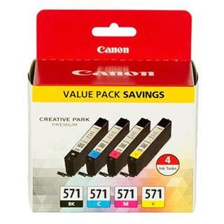 Canon Tinte CLI-571 0386C004 schwarz, cyan, magenta, gelb