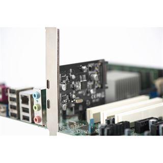 Digitus PCIe Schnittstellenkarte für 2x USB3.1 Typ C