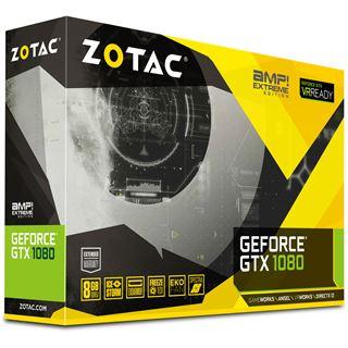 8GB ZOTAC GeForce GTX 1080 AMP! Extreme Edition Aktiv PCIe 3.0 x16