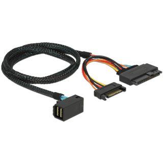 0.75m Delock SAS Anschlusskabel gewinkelt SFF-8643 Stecker auf