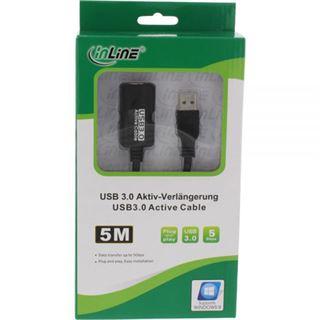 (€2,38*/1m) 5.00m InLine USB3.0 Verlängerungskabel aktiv