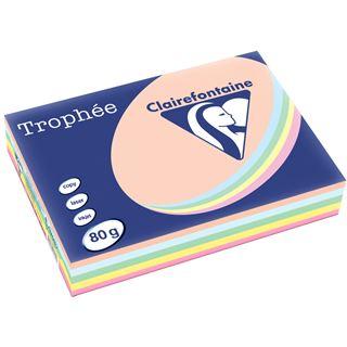 Clairalfa Universal-Papier Troph'e, A4, Pastell-Farben 5x 100Bl.