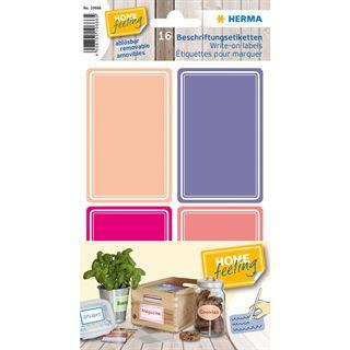 Herma 10666 Beschriftungsetiketten HOME, pink / lila, 52 x 82 mm