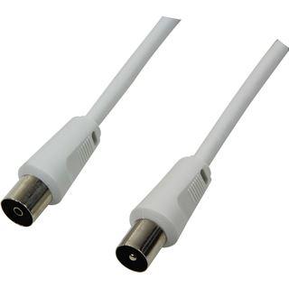 (€1,96*/1m) 2.50m LogiLink Antenne Verlängerungskabel Koax