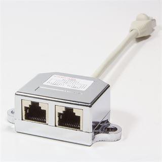 LogiLink RJ45 T-Adapter, 1 x 10/100BastT / 1 x ISDN