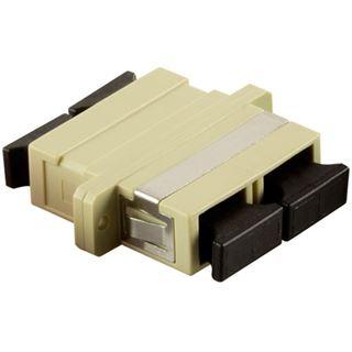 LogiLink LWL Kupplung, 2 x SC-Duplex, Multimode, beige