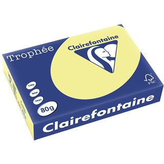 Clairefontaine Multifunktionspapier Troph'e, A4, 80 g/qm,hellgelb