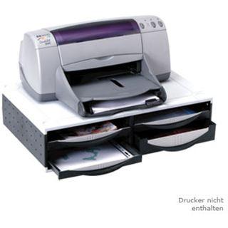 Fellowes Büromaschinen-Ständer, 4 Schubladen, platin/graphit