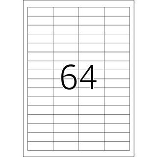 TOP STICK Universal-Etiketten, 48,3 x 16,9 mm, weiß