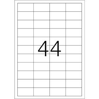 TOP STICK Universal-Etiketten, 48,3 x 25,4 mm, weiß
