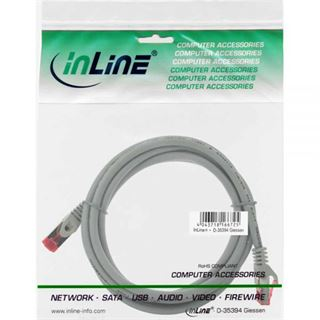 (€4,90*/1m) 1.00m InLine Cat. 6 Patchkabel S/FTP PiMF RJ45