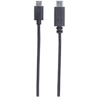 (€6,90*/1m) 1.00m Manhattan USB2.0 Anschlusskabel USB C Stecker