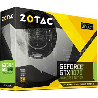 8GB ZOTAC GeForce GTX 1070 Founders Edition Aktiv PCIe 3.0 x16