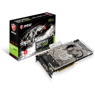 8GB MSI GeForce GTX 1080 SEA HAWK EK X Wasser PCIe 3.0 x16 (Retail)