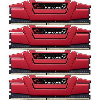 64GB G.Skill RipJaws V rot DDR4-3000 DIMM CL14 Quad Kit
