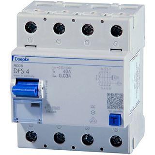 DOEPKE FI-Schutzschalter A 4p 440V 40A 0,5A 4TE REG DIN-Schiene(REG)