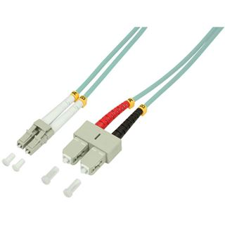(€4,45*/1m) 2.00m LogiLink LWL Duplex Patchkabel 50/125 µm