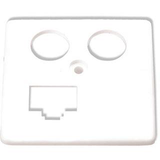 HomeWay Zentralplatte Mod-Jack 4f ws glz Schraubbef (HW-ZP-EK13S)