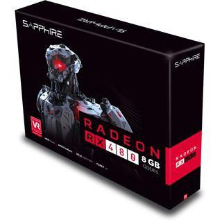 8GB Sapphire Radeon RX 480 Aktiv PCIe 3.0 x16 (Retail)