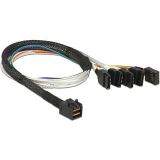 (€45,80*/1m) 0.50m Delock SAS Adapterkabel SFF-8643 Stecker auf