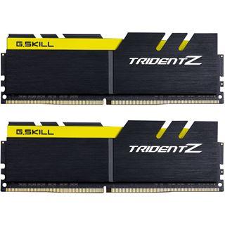 32GB G.Skill Trident Z schwarz/gelb DDR4-3200 DIMM CL16 Dual Kit