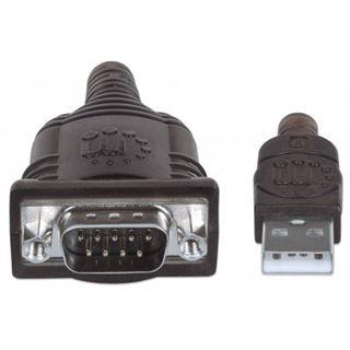 1.80m Manhattan Adapter Anschlusskabel Seriell USB A Stecker auf