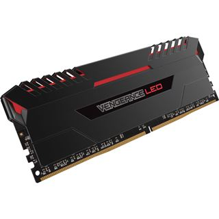 16GB Corsair Vengeance LED rot DDR4-2666 DIMM CL16 Dual Kit