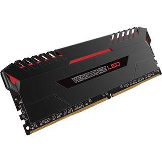 64GB Corsair Vengeance LED rot DDR4-3000 DIMM CL15 Quad Kit