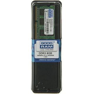 8GB GOODRAM GR1600S3V64L11 DDR3L-1600 SO-DIMM CL11 Single