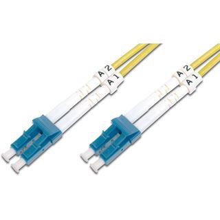 5.00m Digitus LWL Duplex Anschlusskabel LC-APC Stecker auf LC Stecker
