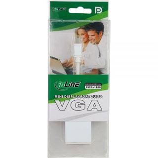 InLine Mini DisplayPort VGA Adapter mini DP Stecker auf VGA Buchse