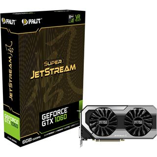 6GB Palit GeForce GTX 1060 Super Jetstream Aktiv PCIe 3.0 x16 (Retail)