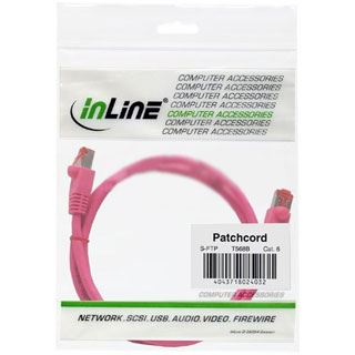 (€15,60*/1m) 0.25m InLine Cat. 6a Patchkabel S/FTP PiMF RJ45