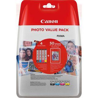 Canon Tinte CLI-571 0386C007 schwarz, cyan, magenta, gelb, grau